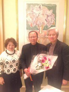 李秀全牧師蒞臨関西,接受石井寬牧師夫婦的歡迎